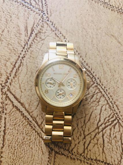 Relógio Mk Dourado Usado