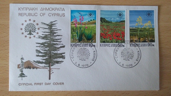 Sobre Primer Día Chipre 1970. First Day Cover. Impecable