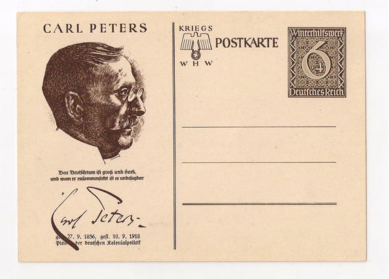 Alemania 3ª Reich Tarjeta Serie Personajes Carl Peters