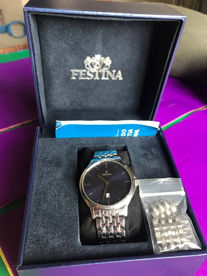 Relógio Festina - Azul Marinho - Caixa Baixa