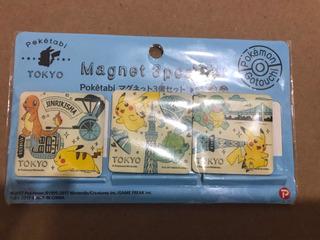 Poketabi Tokyo Magnet 3pcs Pokemon Gotouchi Iman Japón