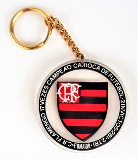 Chaveiro Em Acrilico Cr Flamengo 17 Vezes Campeão Carioca