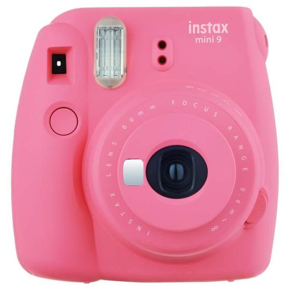 Câmera Instax Mini 9 Instantânea Rosa Flamingo Fujifilm