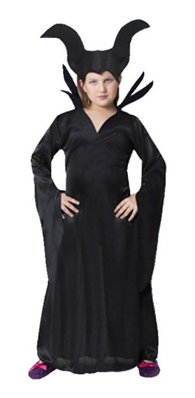 Disfraz Malefica Infantil Talles Bruja Jugueterialeon