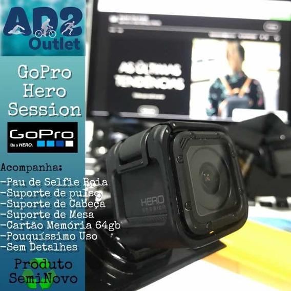 Gopro Hero Session + Acessorios + Cartao Memoria 32gb