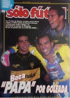 Solo Fútbol N°522. River 2 Boca 4.poster Temperley.jj Campeo