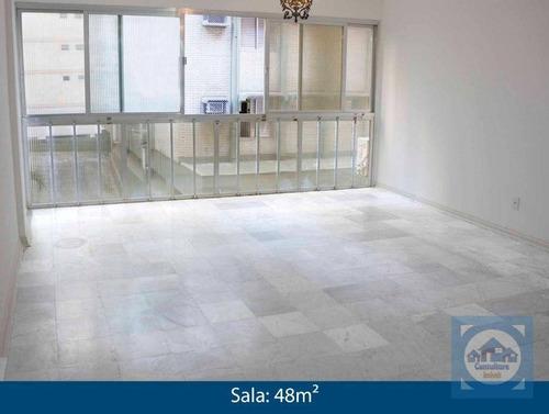 Apartamento Com 3 Dormitórios À Venda, 127 M² Por R$ 579.000,00 - Aparecida - Santos/sp - Ap5158