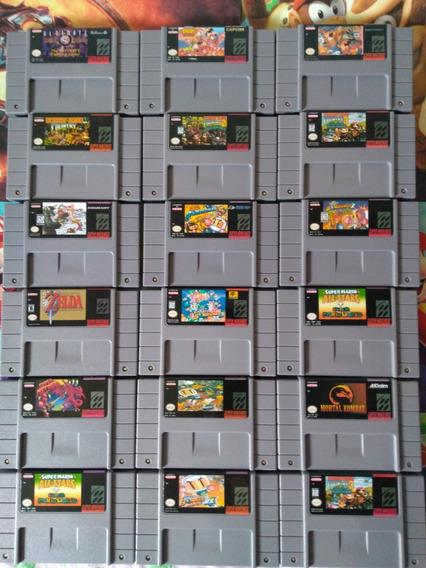 Fitas Super Nintendo Mario,donkey Kong,zelda, 2 Fitas Vc Esc