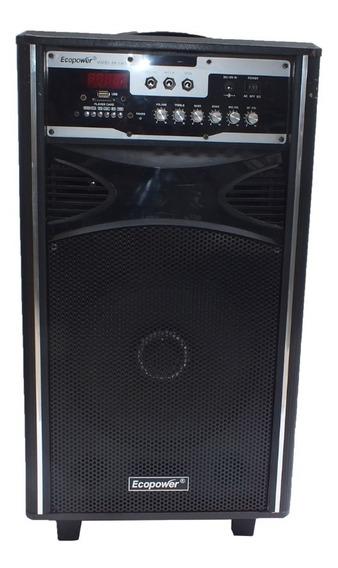 Caixa De Som Amplificada Ecopower 100w Rms Ativa Usb A10267