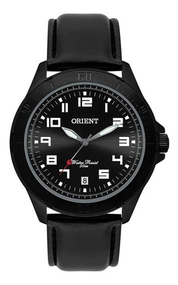 Relógio Orient Masculino Pulseira Couro Preto -mpsc1008 P2px