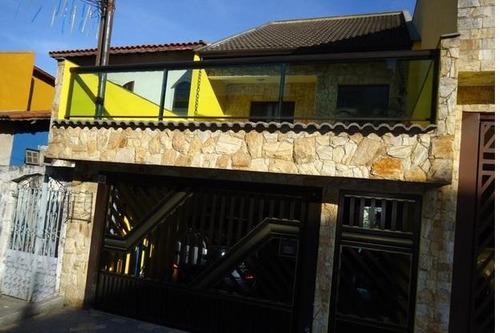 Imagem 1 de 12 de Sobrado À Venda, 3 Quartos, 1 Suíte, 2 Vagas, Gerassi - Santo André/sp - 27380