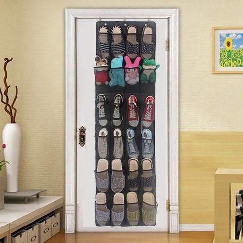 dormitorio para cocina ba/ño con 24 bolsillos grandes organizador de zapatos sobre puerta yue Organizador de zapatos multifuncional para colgar