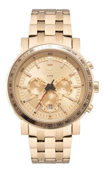 Relógio Technos Masculino Ref: Js26ak/4x Skymaster Dourado