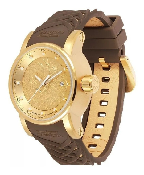 Relógio Invicta Yakuza Automático 12790 Banhado Ouro 18k