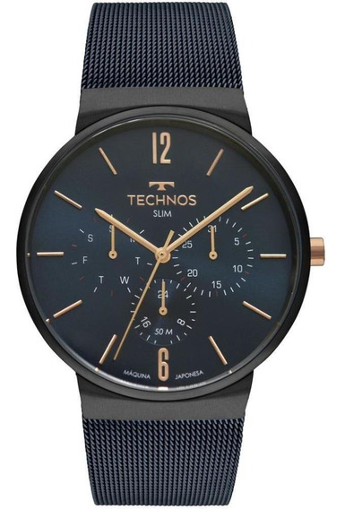 Relógio Technos Slim Masculino Discreto Resistente Dia A Dia