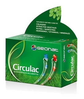 Geonat Circulac Circulación - Venotónico X 60 Compr