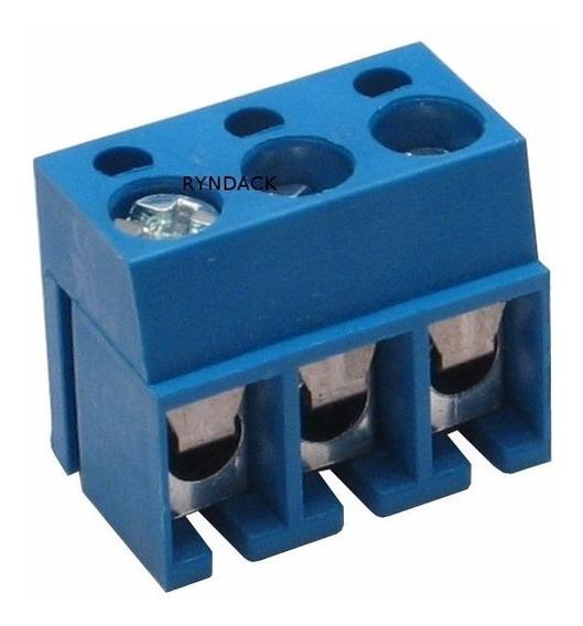 Kit : Resistor Fio 20w 1k + 4 Borne Azul 3 Vias Com 5 Pçs