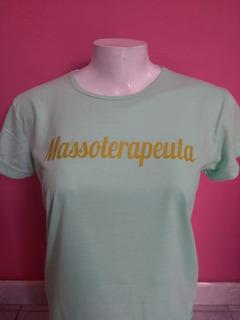 Camisa Massoterapeuta Personalizada Branca