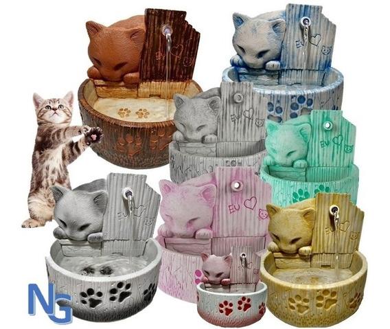 Bebedouro Para Gatos Fonte De Agua De Gatos Decoração Resina