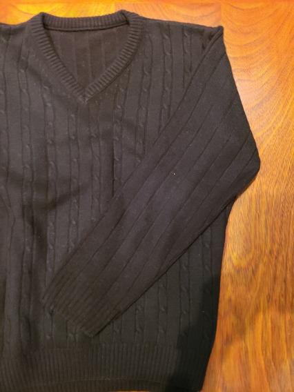 Sweter Escote V. Sin Uso Hermosa Calidad Impecable