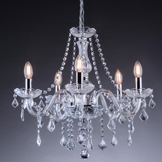 Lustre Cristal 5 Lampadas