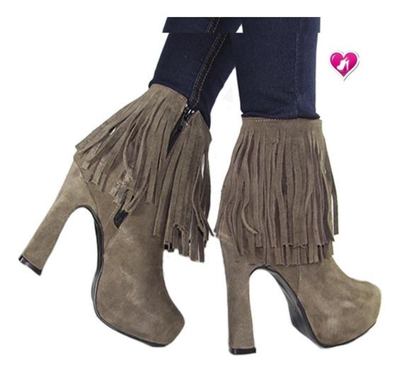 Bota Botineta Mujer Cuero Moda Modelo Lola De Shoes Bayres