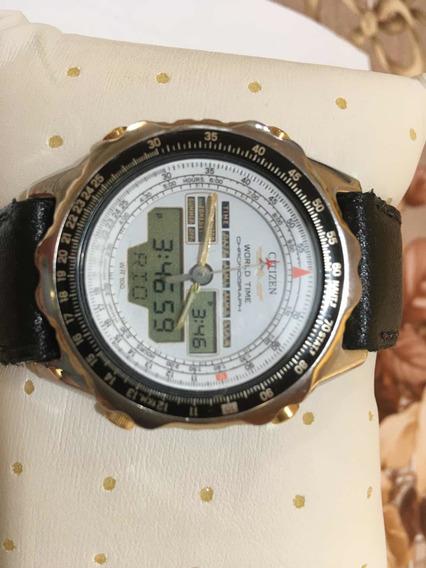 Relógio Citizen C080 Série Ouro Com Duas Pulseiras