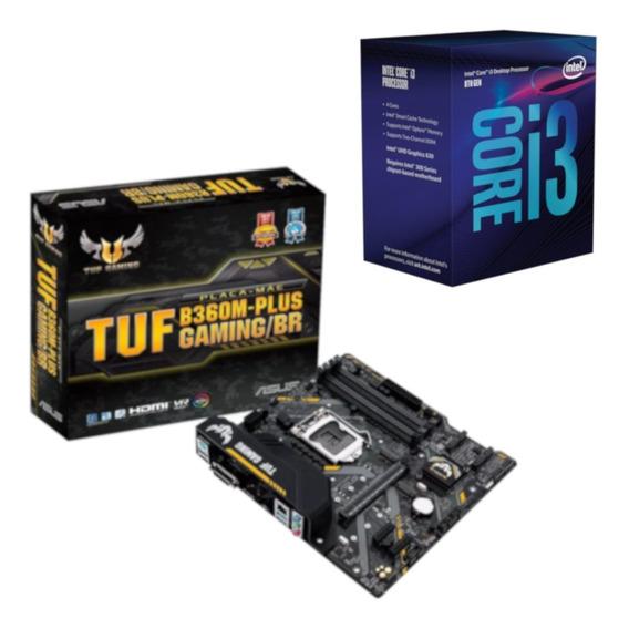 Kit Processador Intel I3 8100 + Placa Asus B360m Plus Gaming