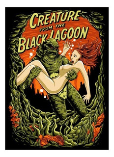 Remera De Pelicula De Terror Creature From Black Lagoon