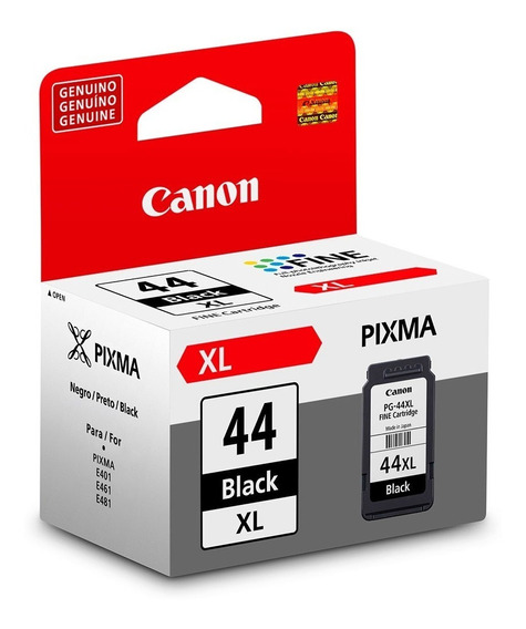 Cartucho De Tinta Canon Preto Pg-44xl (15ml) + Cl-54 (6,2ml)