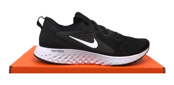 Tênis Nike Legend React Preto E Branco Original