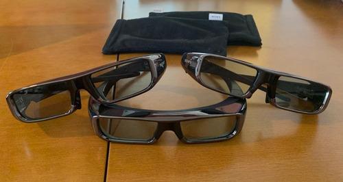 Kit 3 Óculos 3d Sony Tgd-br100