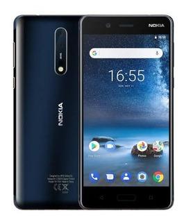 Nokia 8 64 Gb Ta-1012 Azul ( Sem Detalhes )