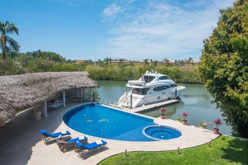 Imagen 1 de 14 de Casa En Venta En Nuevo Vallarta Con Canal $2,000,000usd