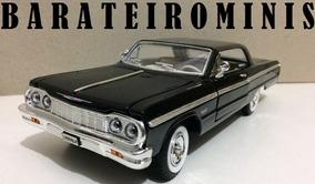 1:24 Chevrolet Impala 1964 Preto - Sunnyside Barateirominis