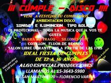 Salon De Fiesta - Cumple Matine - Ideal De 10 A 16 Años