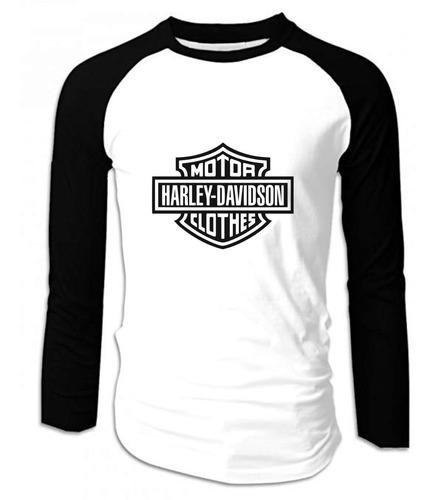 Camiseta Harley Davidson Manga Larga Camibuso