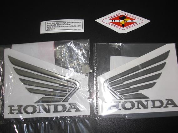Adesivo Tanque Asa Cb 1000 R Hiss Original Honda Cromado