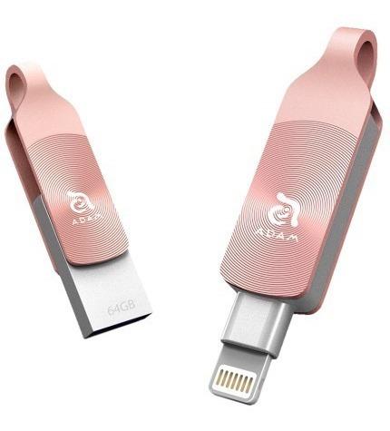 Pen Drive Elements Adam Iklips Duo 32gb Dourado/rosa