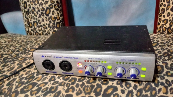 Pré Amplificador De Estúdio Valvulado 2 Canais Alto