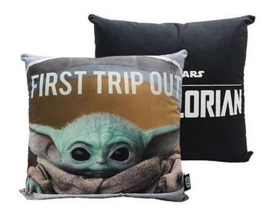 Almofada 40x40cm Baby Yoda Star Wars Mandalorian Disney