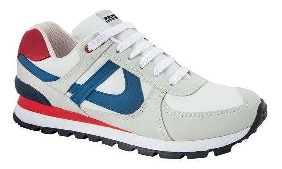 Tenis Panam Hombre Original Comodo Azul Gris Sneakers Retro