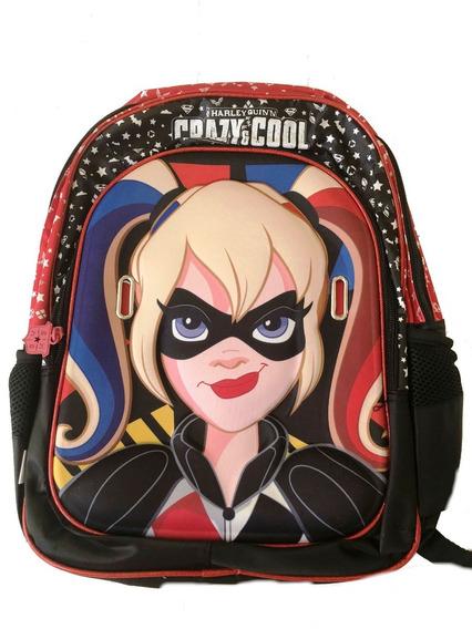 Mochila Mujer Maravilla Harley Queen Batichica De Lujo 16pul