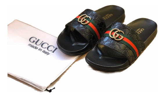 Sandalias Chanclas Caballero Gg Gucci Envío Gratis