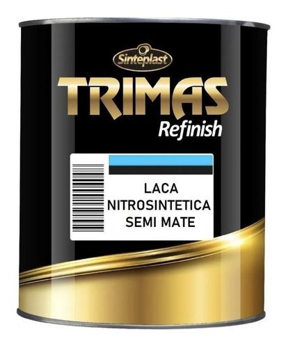 Imagen 1 de 2 de Laca Nitro Negro Satinado 1 Litro Trimas Auto Madera Metal