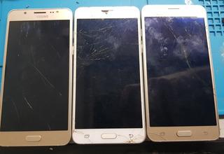 Lote Com 3 Samsung J5 Metal J510m Com Display Quebrado