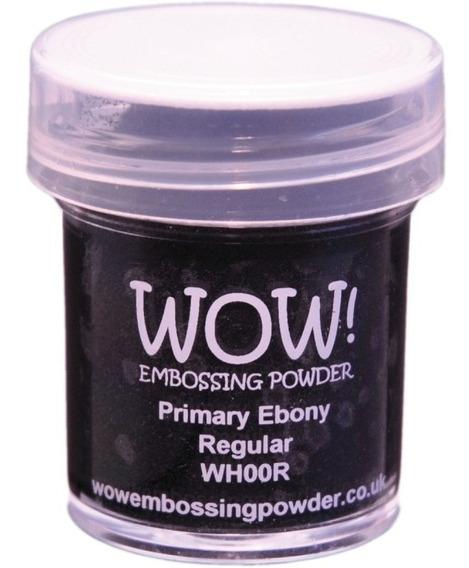 Polvo Para Embossing Negro Primary Ebony Regular Wow!