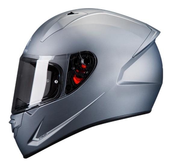 Casco Para Moto Mt Helmets Stinger Titanio Mate Motocity