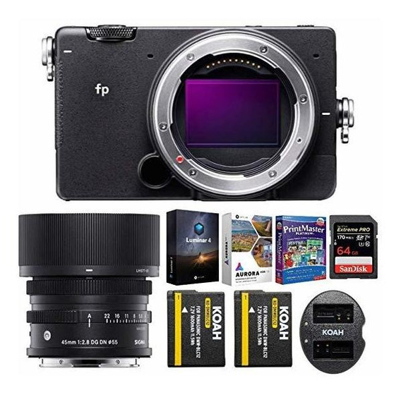 Camara Sigma Fp Mirrorless Digital 45mm Lente 64 Gb Extrem ®