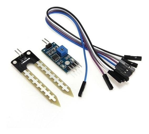 Módulo Sensor De Umidade Do Solo + Cabo Arduino